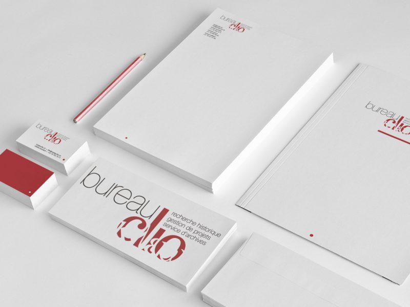 Bureau Clio – Logo –Papeterie
