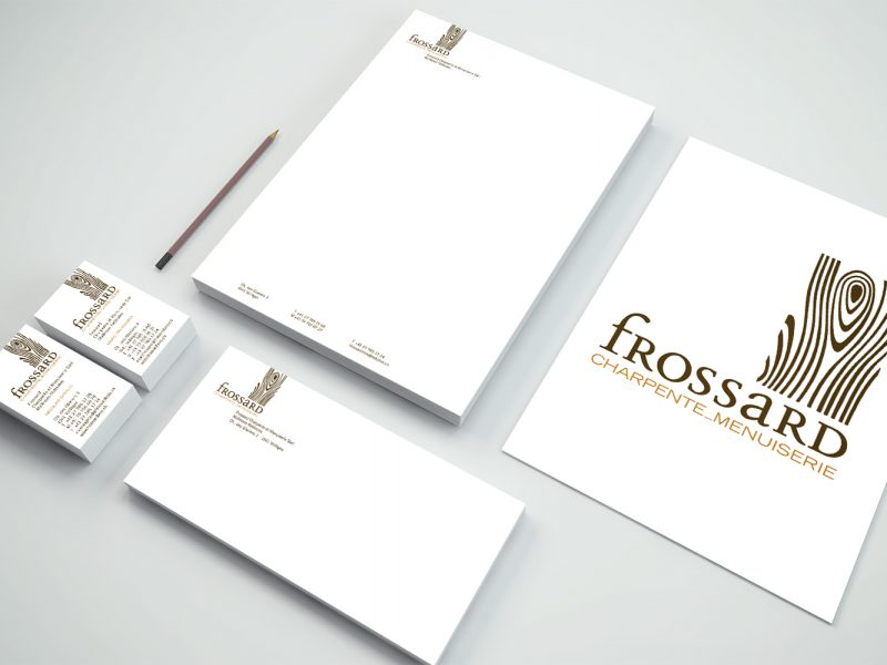 Menuiserie Frossard – Logo – Papeterie