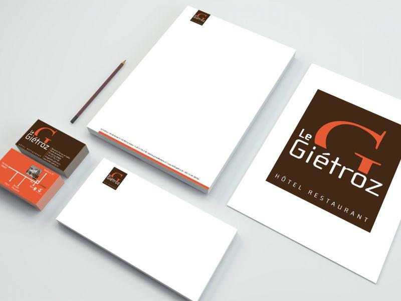 Hôtel du Giétroz – Logo –Papeterie