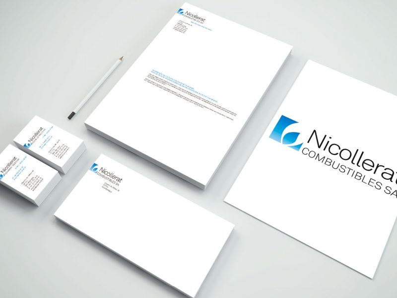 Nicollerat Combustibles – Logo – Papeterie