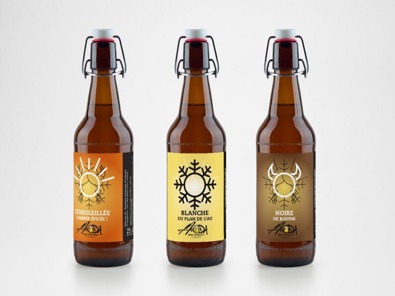 Aroda – Packaging – Étiquette de bière