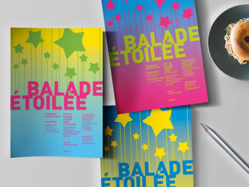 Bibliothèque de Bagnes – Flyer –Balade étoilée
