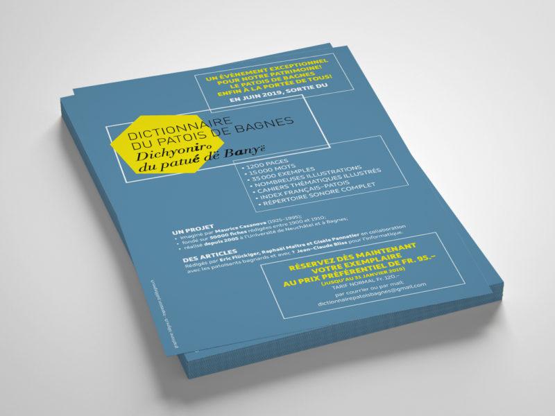 Dictionnaire du Patois de Bagnes – Flyer