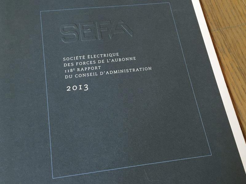 SEFA – Rapport de gestion – 2013